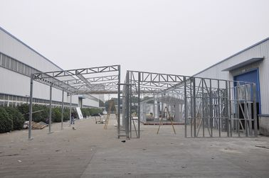 China Waterproof Prefabricated Sheds / Metal Car Sheds With Galvanized Steel Frames distributor